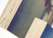 Wanddecoratie houtblok